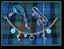 Blue Dolphin Girl's Kilt Pin Set with Child's Necklace and Bracelet