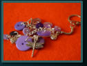 Purple Insect Cluster Bag Charms / Keyrings