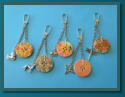 Duck, Dog, Cat, Butterfly & Dragonfly Single Button Bag Charms / Keyrings