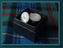 Vintage Mother of Pearl Button Cufflinks - Boxed
