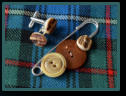 Real Antler Button Cufflinks and Matching Men's Kilt Pin