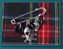Black Skull Boy's Kilt Pin