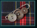 Grey Mother of Pearl Men's Kilt Pin