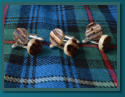 Button Cufflinks - Real Antler