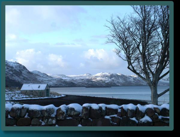 Winter View from the Button Bothy Studio