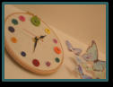 Button clock made by my lovely friend Gillian